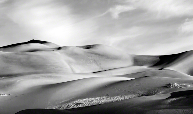 Black-and-white sand dunes