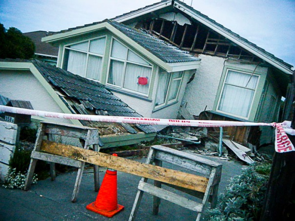 House is shattered in NZ Quake