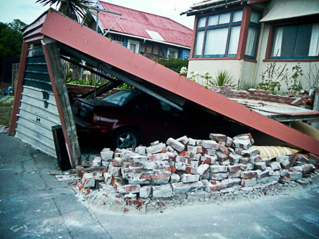 House damaged in NZ quake